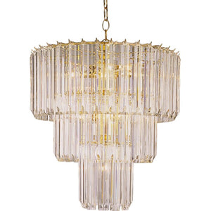 Polished brass Grisella Unique / Statement Tiered Chandelier  #5330