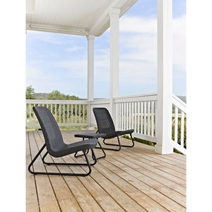 Stickel 3 Piece Rattan Seating Group  #5014- color:  sparkle gray