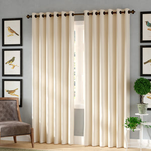 Tarakan Solid Blackout Thermal Grommet Single Curtain Panel EB2985