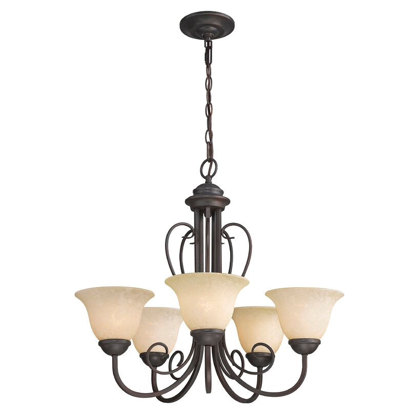 Lorin 5 - Light Shaded Classic / Traditional Chandelier ELG2078