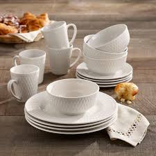 White Juliette 16 Piece Dinnerware Set, Service for 4 -3353