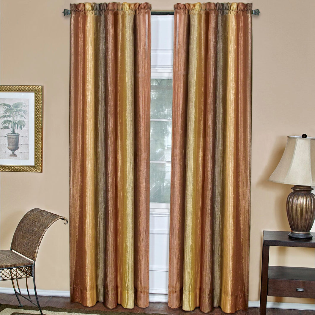 Velia Striped Sheer Rod Pocket Single Curtain Panel EB2973