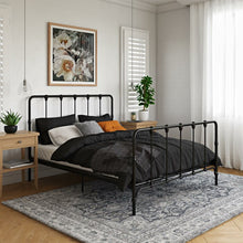 Load image into Gallery viewer, Full Black Viviana Farmhouse Metal Platform Bed  #5428