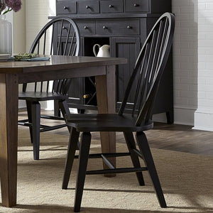 Warkentin Dining Chair  (set of 2) BLACK #6248