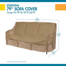 "Load image into Gallery viewer, 35"" H x 79"" W x 37"" D Latte Wayfair Basics Patio Sofa Cover #6189"