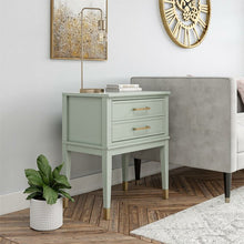 Load image into Gallery viewer, Bleached Teal Westerleigh 1 Drawer Nightstand  #5305