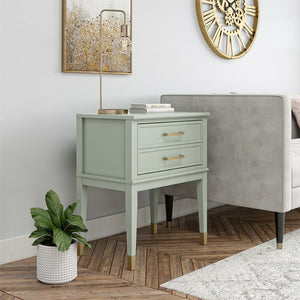Bleached Teal Westerleigh 1 Drawer Nightstand  #5305