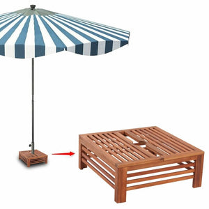Wood Freestanding umbrella base foot cover #6256