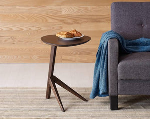 Bamboo Side Table Black Walnut   #5289