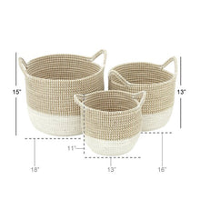 Load image into Gallery viewer, 3 Piece Seagrass Basket Set #6083