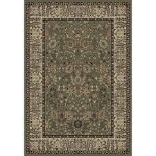 "Izaiah Oriental Olive/Beige/Tan Area Rug Rectangle 6'7"" x 9'6""-MBRUGS212"