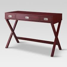 Campaign Desk 3 Drawer Salsa Red 30.5
