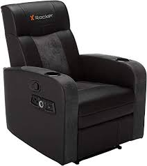 Premier 2.1 Wireless Bluetooth Stereo Sound Recliner, Dual Audio Foldable Gaming Chair and Home Theater Seating with Cupholders - Vibrating Subwoofer & Footrest, Black and Gray  #4189