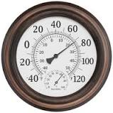 10-Inch Round Indoor/Outdoor Thermometer in Bronze  #5118