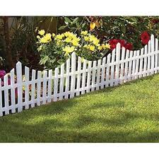 (18) Piece 2ft x 1ft White Flexible Plastic Garden Picket Fence Lawn Grass Edge Edging Border #4032