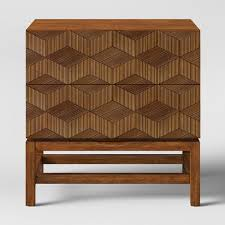 Tachuri Geometric Front Nightstand Brown    #4490