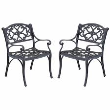 Home Styles Biscayne Outdoor Dining Arm Chair in Rust Bronze Set of 2  #4120