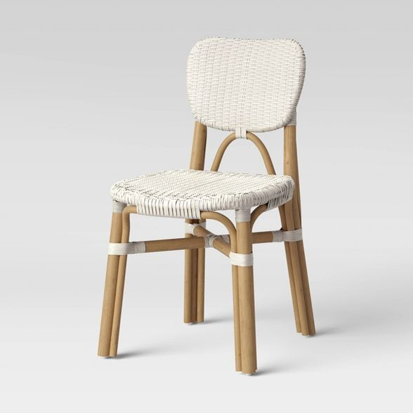 Canton Rattan and Woven Dining Chair White - Threshold #6253