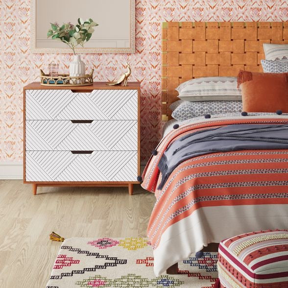 Touraco Dresser White/ Brown - Opalhouse  #5152