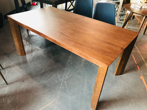 Mahogany Brown Wood Cade Dining Table