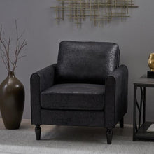 Load image into Gallery viewer, Blithewood Black Upholstered Club Chair #714