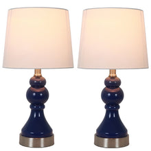 "Load image into Gallery viewer, (Set of 2) Presidio 17.25"" Table Lamp Set with USB #962"