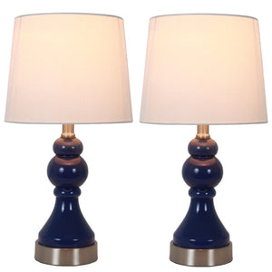 "(Set of 2) Presidio 17.25"" Table Lamp Set with USB #962"