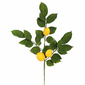 (Set of 4)Artificial Salal Leaf Lemon Spray #773