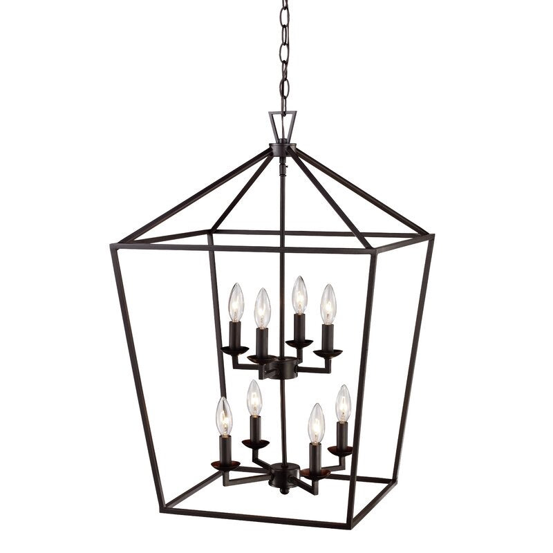 Carmen 8 - Light Lantern Geometric Chandelier #877