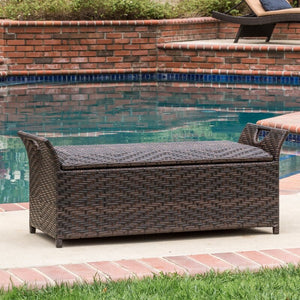 Quinto Wing Wicker Storage Bench #968