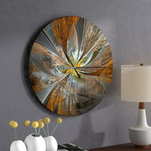 Load image into Gallery viewer, Large Bronze/Gray Oversized Symmetrical Fractal Flower Wall Clock #1007