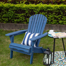 Load image into Gallery viewer, Navy Blue Cuyler Solid Wood Folding Adirondack Chair #690