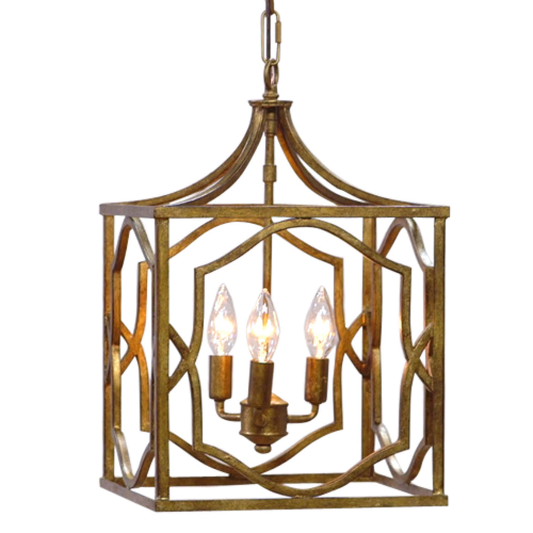 Blakely 3 Light 12 inch Antique Gold Foyer Pendant Ceiling Light #937