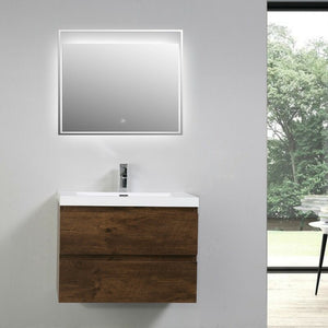 Lina 30 Wall-Mounted Single Bathroom Vanity Set #6015