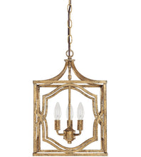 Load image into Gallery viewer, Blakely 3 Light 12 inch Antique Gold Foyer Pendant Ceiling Light #937
