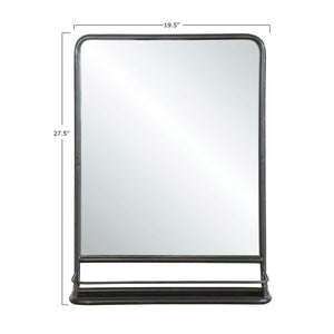 Peetz Accent Mirror with Shelves #1077