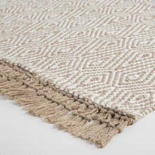 Load image into Gallery viewer, Beige And Ivory Woven Diamond Indoor Outdoor Rug #731