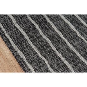 Sicily Charcoal Indoor/Outdoor Area Rug #723