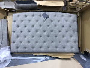 Queen Light Gray Larios Upholstered Standard Bed EB2731