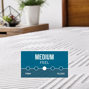 "Lucid Comfort 12"" Medium Charcoal Infused Gel Memory Foam Mattress #1927"