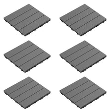 "Load image into Gallery viewer, (Set of 6) Slat Patio 12"" x 12"" Composite Interlocking Deck Tile #830"