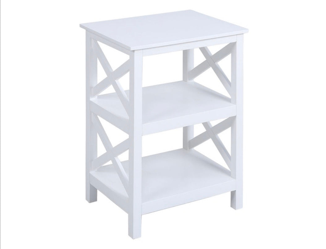 Pismo Beach White Bookcase #589