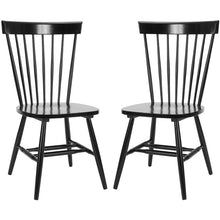 Load image into Gallery viewer, (Set of 2) Black Spindle Windsor Side Chair #680
