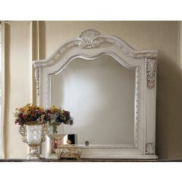 McFerran Home Furnishing Mirror in Antique White  #5144