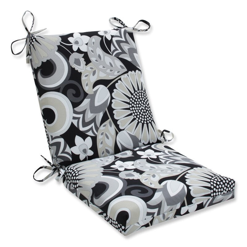 (Set of 4)Sisneros Squared Corner Indoor/Outdoor Dining Chair Cushion #823
