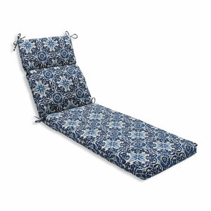 Blue Bushman Indoor/Outdoor Chaise Lounge Cushion #627
