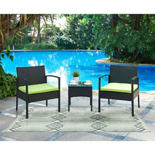 Load image into Gallery viewer, Kobe 3 Piece Rattan Conversation Set with Cushions #1928