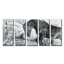 Load image into Gallery viewer, 'Equestrian' 5 Piece Painting Canvas Set #945