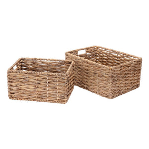 Twisted 2 Piece Wicker Basket Set #578