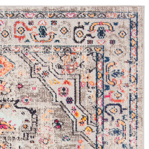 Gutierez Oriental Gray/Blue/Orange Area Rug #635